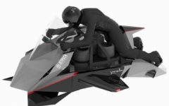 Moto voadora impressiona pelo design, pela velocidade e pelo preo