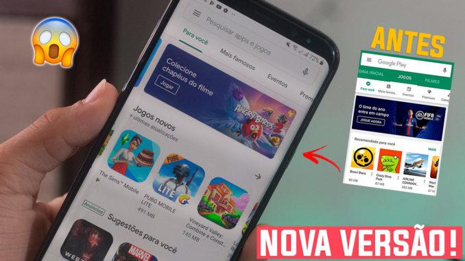 Google Play Atualizada com novo visual – Apk