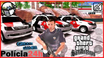 GTA SA MOD POLICIA 24 HORAS LITE 300MB