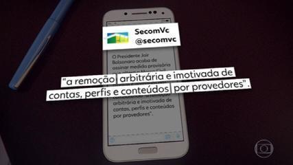Bolsonaro assina MP que dificulta remoção de conteúdo das redes sociais